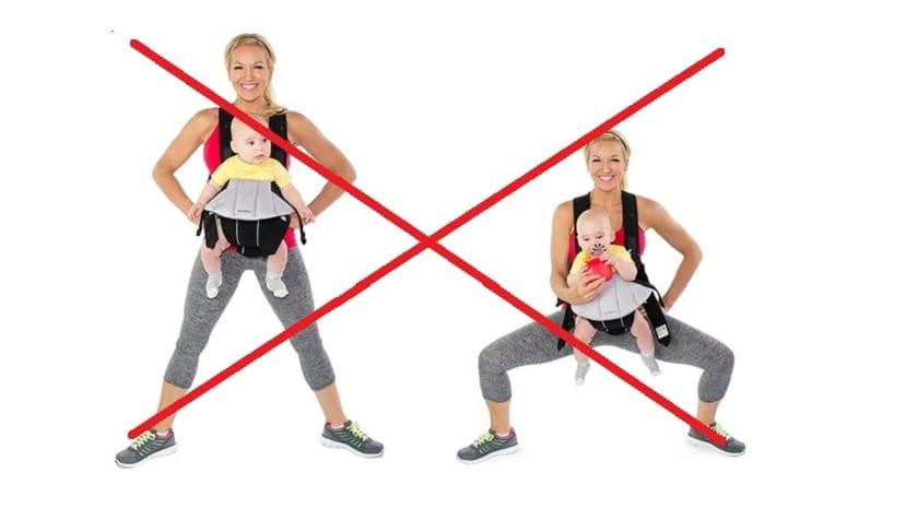 Guggolás súllyal vagy gyerekkel:: NE!