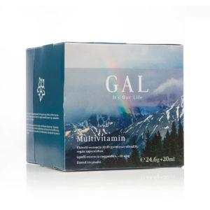 A képen a GAL mutivitamin készítménye látható dobozában.