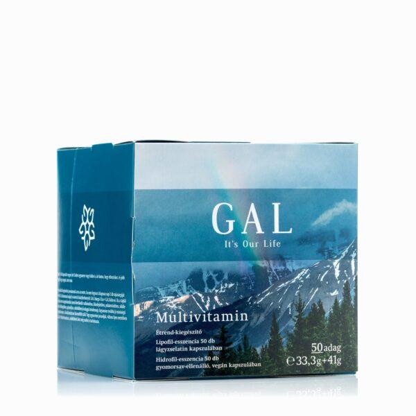 A képen a GAL multivitamin készítménye látható dobozában.