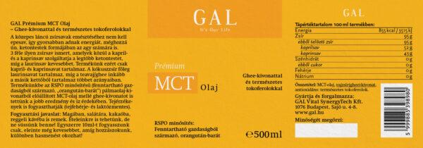A GAL Prémium MCT olaj látható a képen.